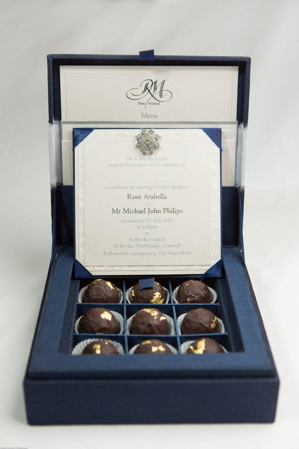Chocolate Box - ER Stationery - Luxury Silk Wedding Invitations and ...