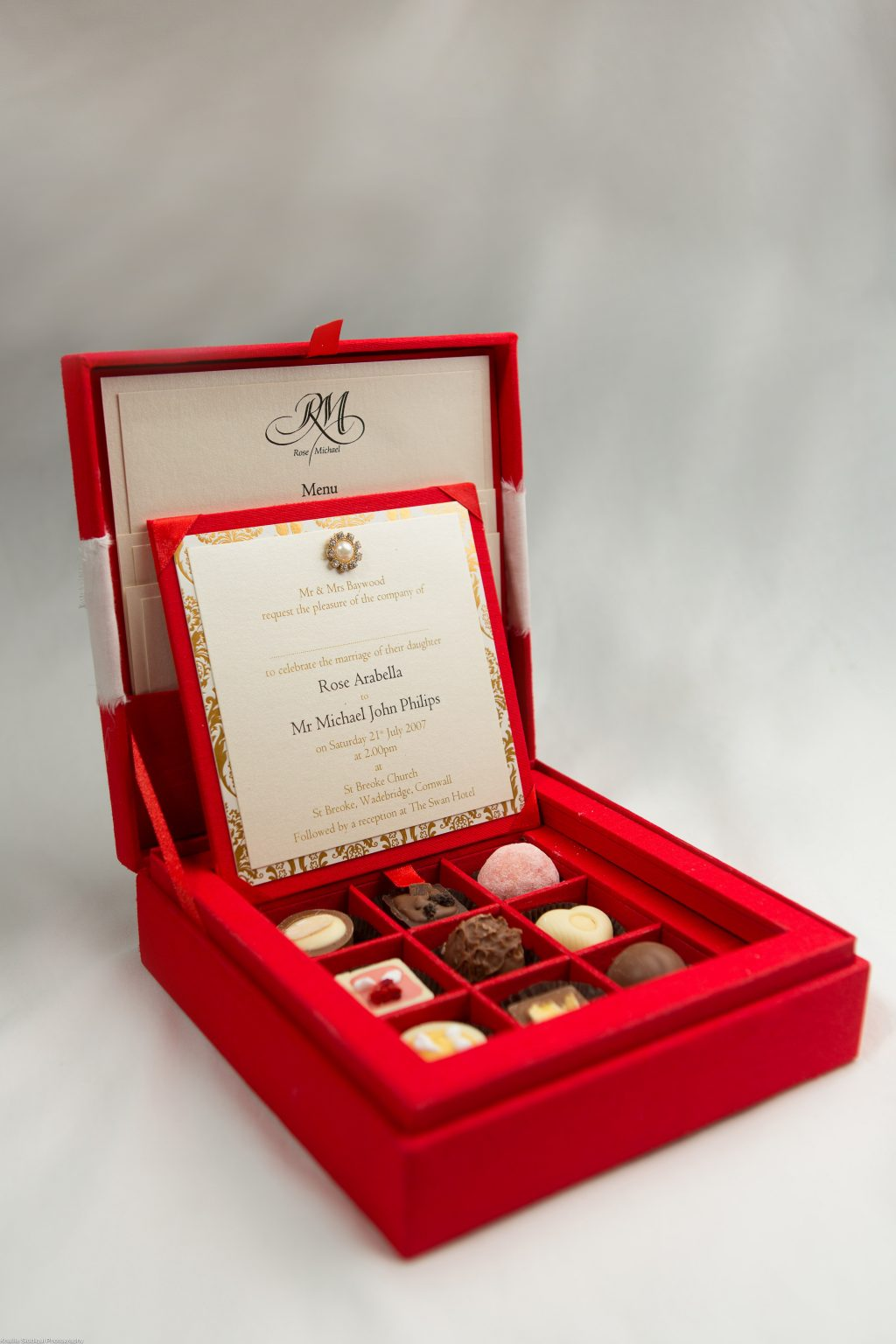 Chocolate Box - ER Stationery - Luxury Silk Wedding Invitations and ...
